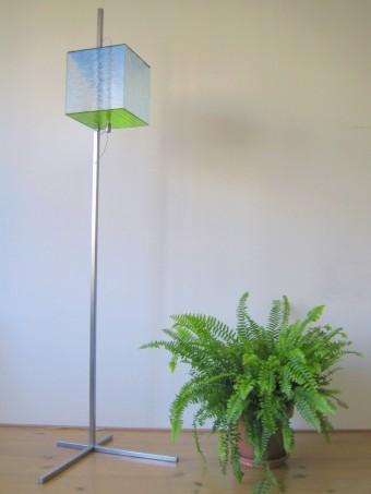 Glazen kubus lamp