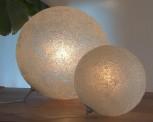 Liggende maanlampen, met glaskorrels