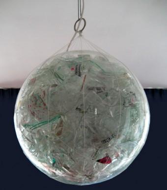 Glazen bol lamp